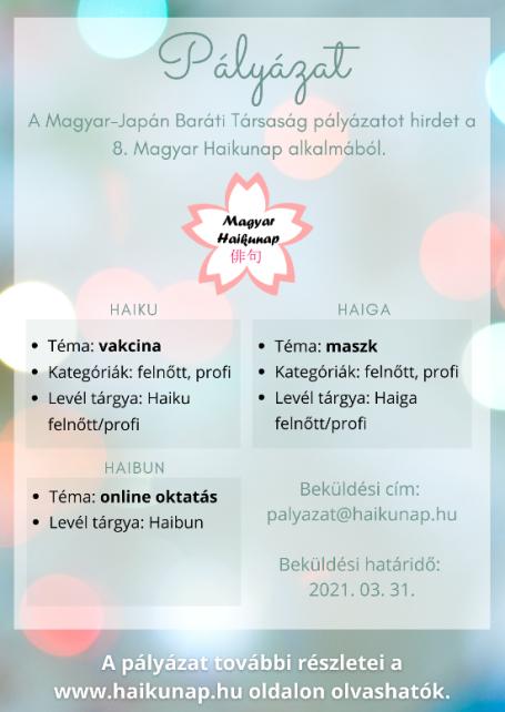 8. Magyar Haikunap versenyfelhívás