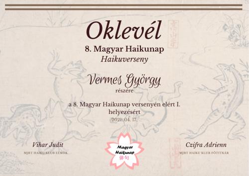 Versenyeredmények – 8. Magyar Haikunap