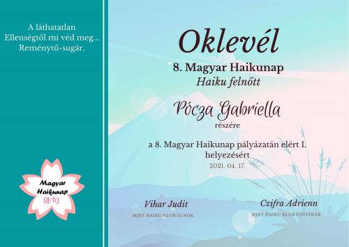 Pályázat nyertesei – 8. Magyar Haikunap